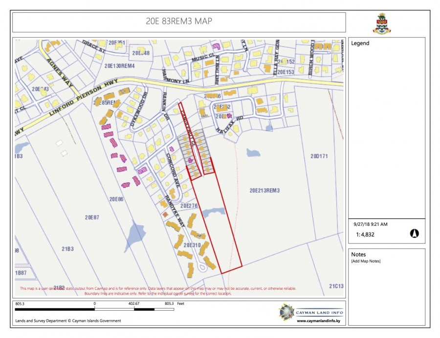 George Town 5.406 acres Inland Parcel for sale, George Town Property